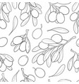 seamless patten black and white sketch outline vector image