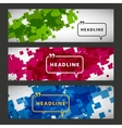 Set of abstract squares on a white background vector image