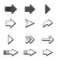set of black arrows arrow icon arrow icon arrow vector image vector image