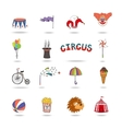 Set of colorful circus icons vector image vector image