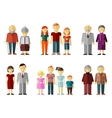 set of flat family vector image vector image