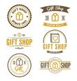 Set of vintage logo label badge and logotype vector image