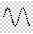 sinusoid icon vector image vector image