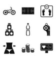 sport tactic icons set simple style vector image vector image