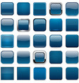 Square dark blue app icons vector image vector image