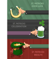 St Patricks Day concept backgrounds vector image vector image