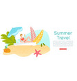 summer travel vacation to tropical sea islands vector image vector image