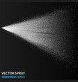 tansparent water spray cosmetic white fog spray vector image vector image