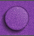 the circle glass banner purple sequins background vector image vector image