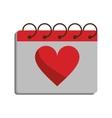 valentine day calendar love heart date vector image