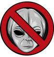 warning signs for aliens face vector image