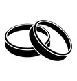 wedding rings icon vector image