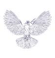 white dove holding olive branch in his beak vector image vector image