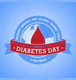 world diabetes day with blood vector image vector image