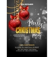 Christmas Party design template with decoration vector image