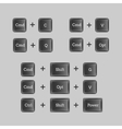 Computer keyboard shortcuts with buttons vector image