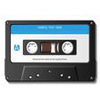 Realistic cassette tape vector image