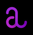 Logo templates of letter A logotype letter A vector image