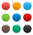 colorful buttons icon set simple vector image