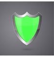 Metal surround shield on a dark background vector image