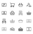 16 purchase icons vector image vector image