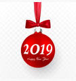 2019 christmas and new year background with red vector image vector image