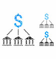 bank association composition icon tremulant vector image vector image