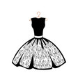 beautiful dress on a hanger vector image vector image
