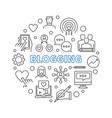 blogging circular concept vector image