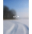 blurred background - Snowy Winter Road vector image