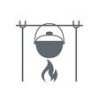 Campfire place icon vector image