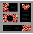 Cards with lilies and frame text vector image