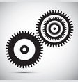 cogs - gears vector image