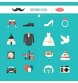 Color Decorative Wedding Icons vector image vector image