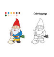 coloring page or book with garden vector image