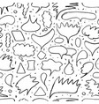 contour speech bubble seamless pattern vector image vector image