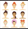 cosmetic facial mask on different girls vector image