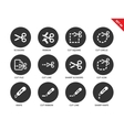 Cut icons on white background vector image