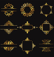 Decorative gold design elements vector image vector image