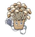 doctor enoki mushroom character cartoon vector image vector image