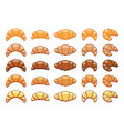 drawing croissant icons vector image