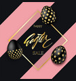 easter eggs composition black eggs with golden vector image