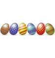 easter eggs with shadow vector image