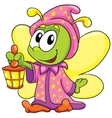 Firefly in pajamas on white background vector image
