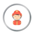Fireman cartoon icon for web and vector image vector image