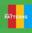 four different hosting seamless patterns vector image vector image