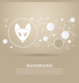 fox icon on a brown background with elegant style vector image