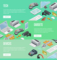 gadgets and computer devices isometric posters vector image