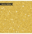 Golden glitter pattern texture with star Abstract vector image vector image