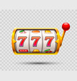 golden slot machine wins the jackpot vector image vector image